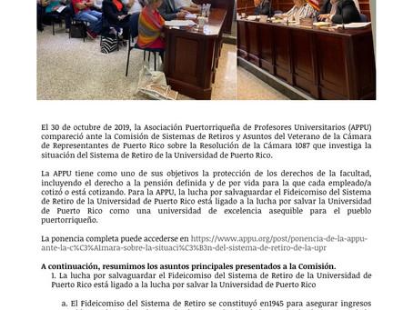 APPU Informa: El Futuro de la UPR y las pensiones