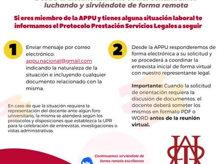 Protocolo de Servicios Legales a distancia