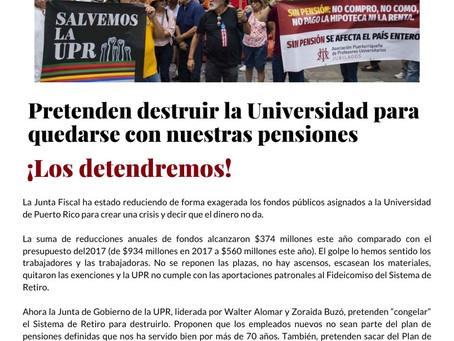 APPU Informa: ¡Los detendremos!
