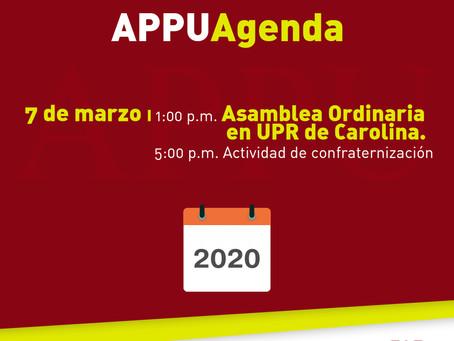 Asamblea Ordinaria de la APPU