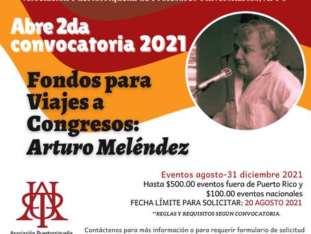 Abre 2da convocatoria de fondos de viaje Arturo Meléndez