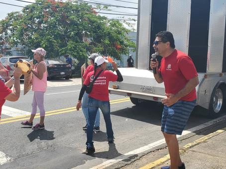 Grupo de Sindicatos respaldan trabajadores en huelga de Cadillac Uniform en Bayamón