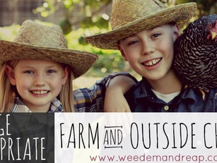 AGE-APPROPRIATE FARM {AND} OUTSIDE CHORES