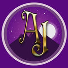 Logo AJ big mountain with shadow purple