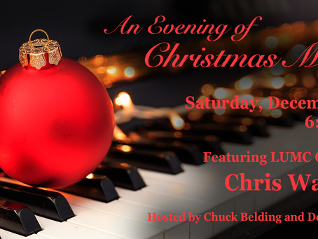 An Evening of Christmas Music - Saturday, December 19 at 6:30 pm