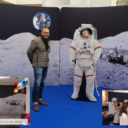 PHOTOCALL DOUBLE PAYSAGE LUNAIRE RECTO VERSO