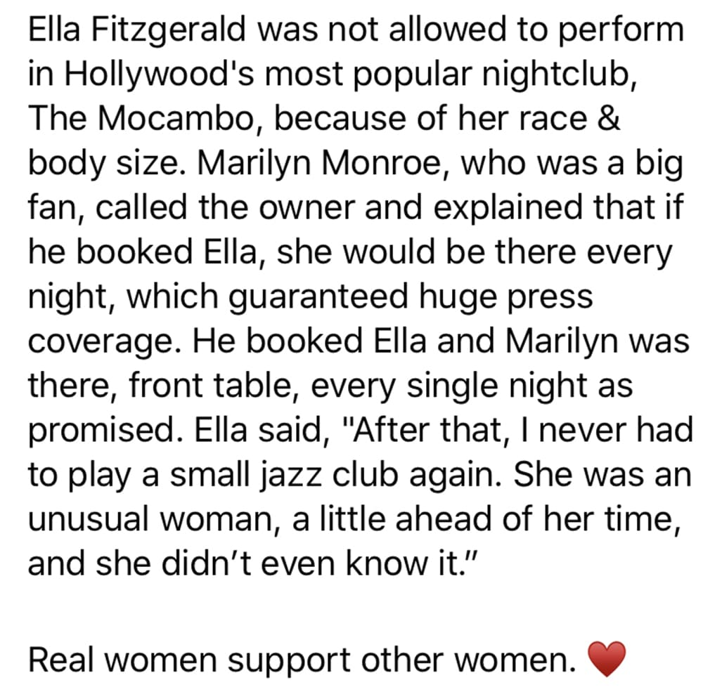 Ella to Marilyn