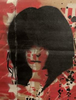 heavy metal auf pappe, gefunden im kunst