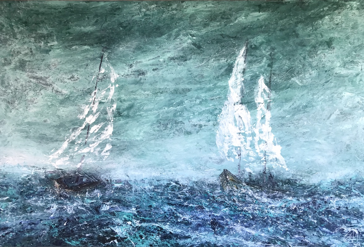 Peters Fiskefangst 120x80 cm