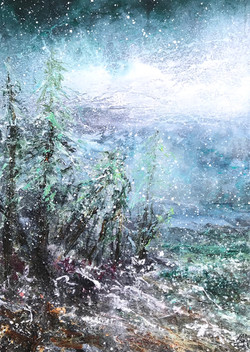 Vinter, sne 50x70 cm