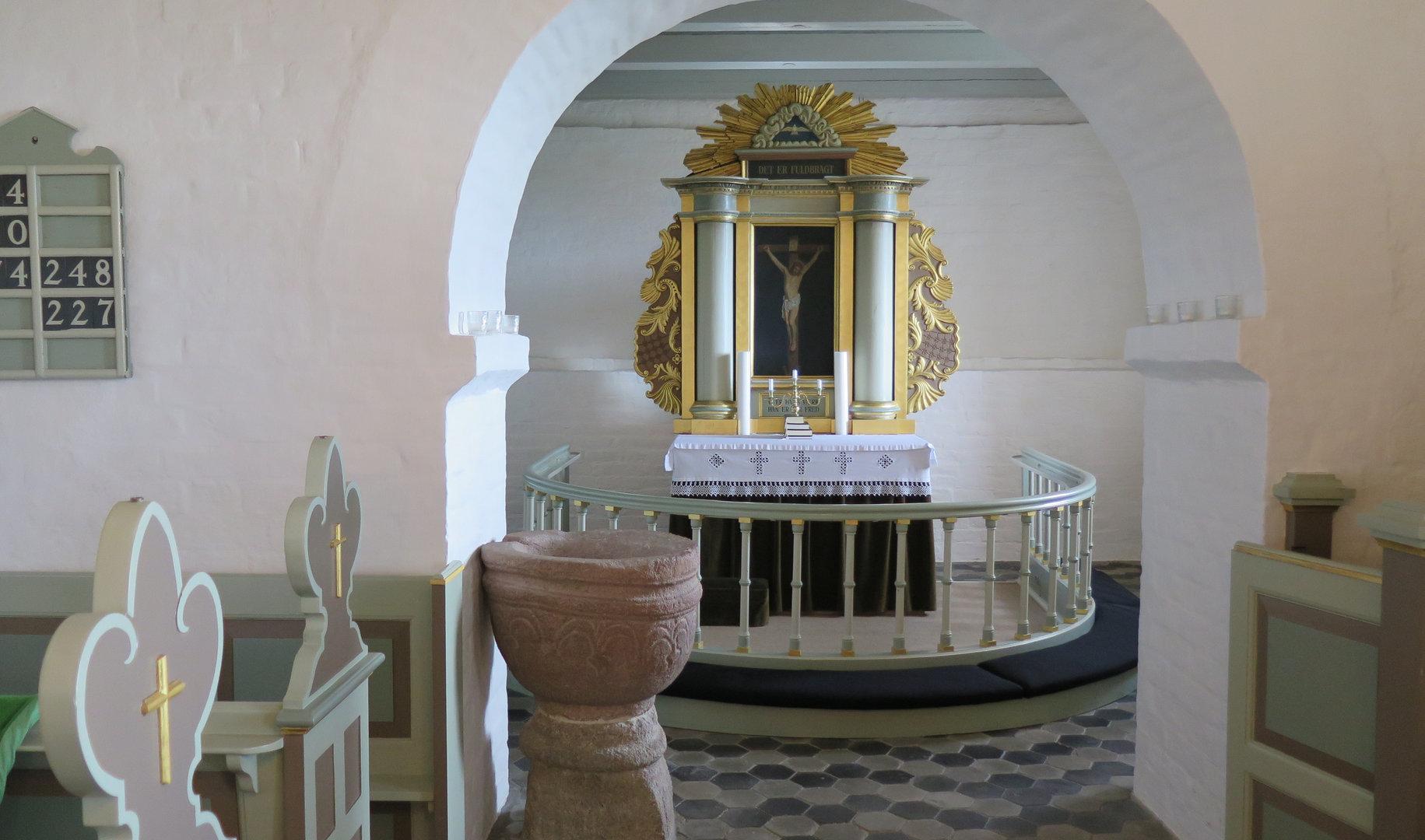 Kirkerummet før renoveringen