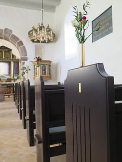 Udsmykket felter til kirkebænke