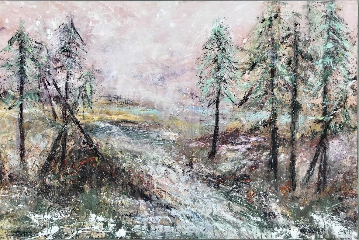 I skoven 120x80 cm