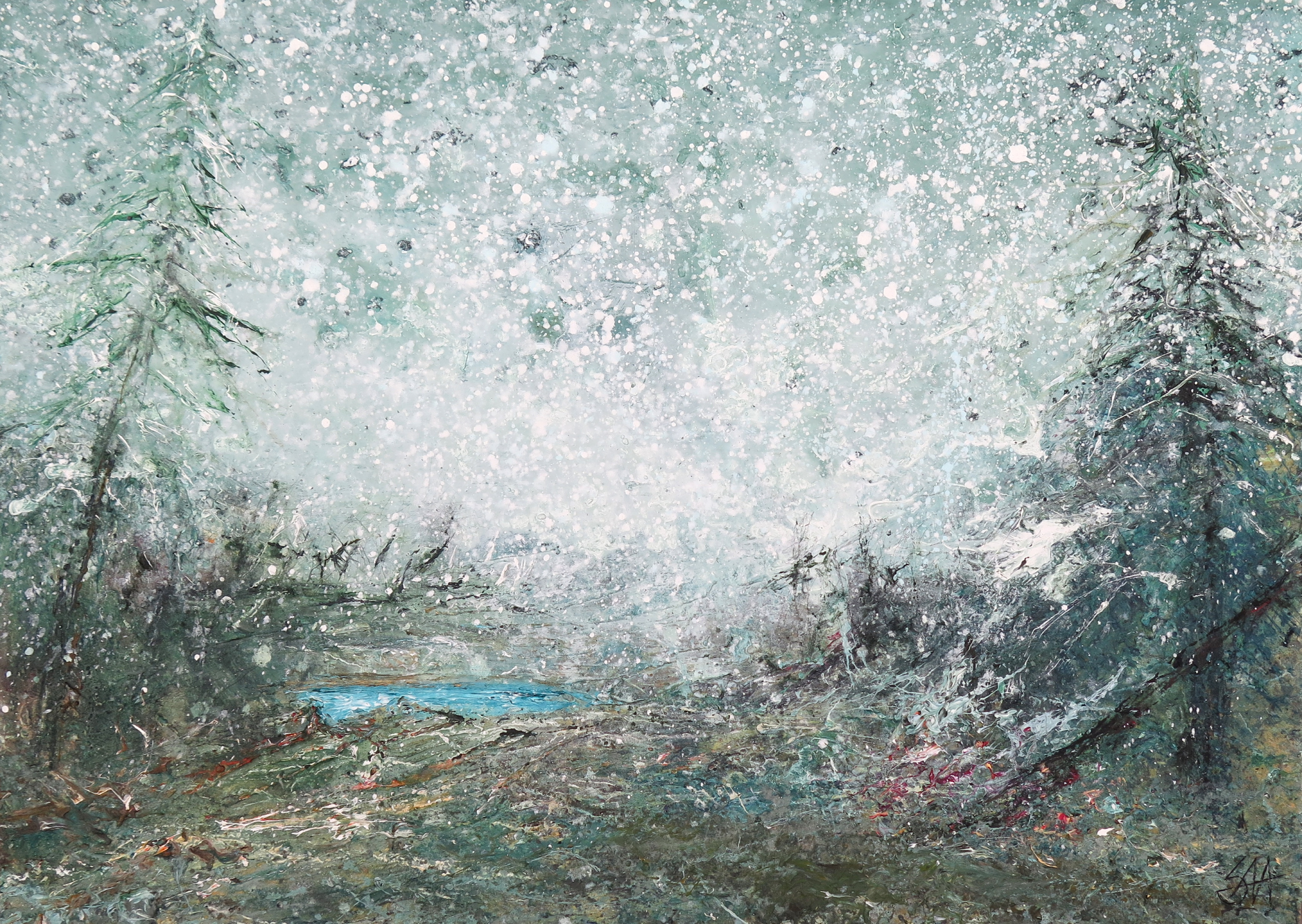 Vinter sne 70x50 cm