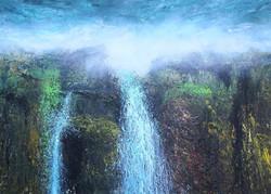 Vandfald 140x100 cm