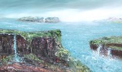 Island 100x60 cm.