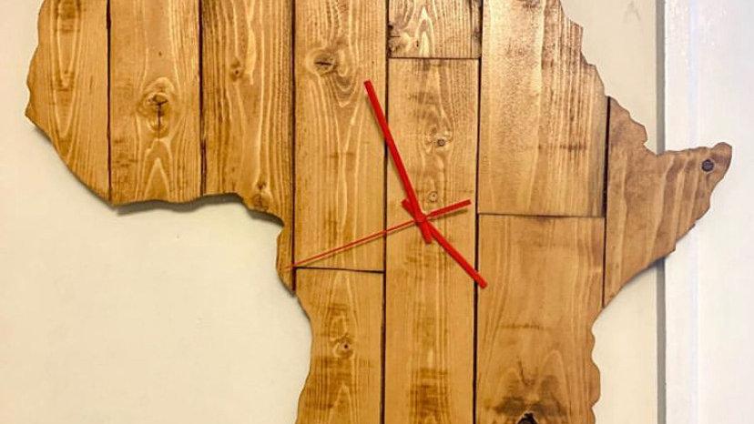 Wood Africa Clock