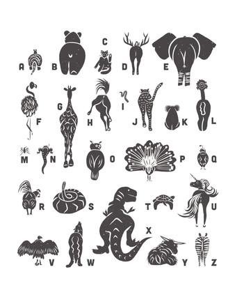 'Animal Butt Alphabet'