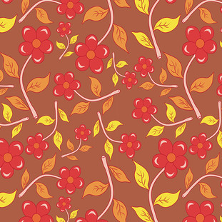 Honey Flowers Pattern