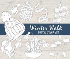 Winter Walk - Digital Stamp Set