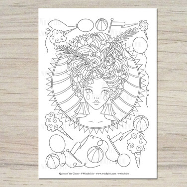 Queen of the Circus Coloring Page