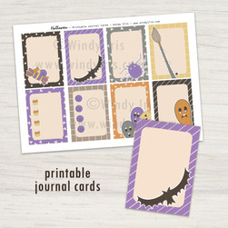 Halloween Journal Cards - Windy Iris