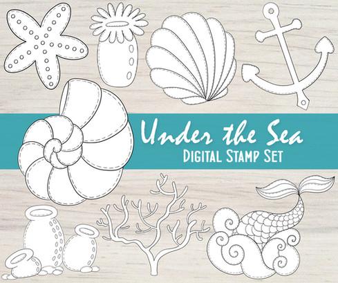 Under the Sea - Digital Stamp Set
