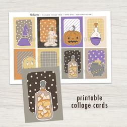 Halloween Collage Cards - Windy Iris