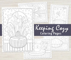 Keeping Cozy Colouring Pages