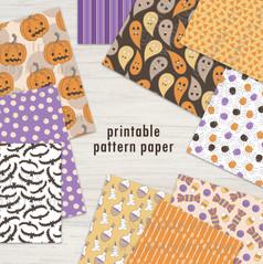 Halloween Pattern Paper Collection - Windy Iris