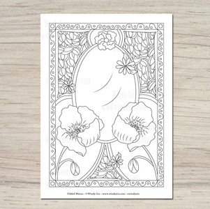 Gilded Mirror Coloring Page