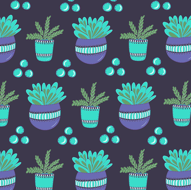 Potted Plants Pattern