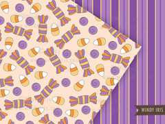 Halloween Pattern - Windy Iris