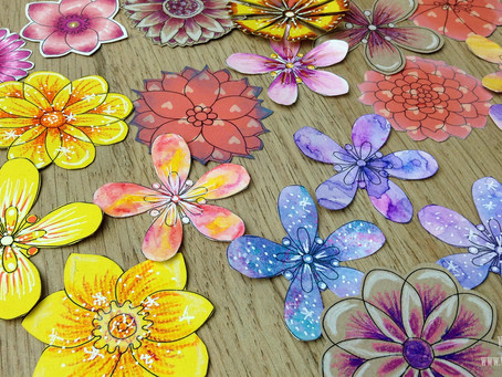 DIY Embellishments from Digital Stamps