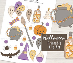Halloween Clip Art - Windy Iris