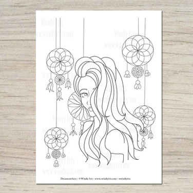 Dreamcatches Coloring Page