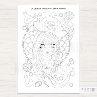 Aquatic Girl Coloring Page