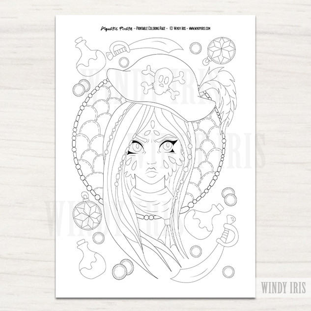 Aquatic Girl Coloring Page