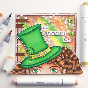 St. Patricks Girl Card