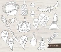 Halloween Digital Stamps - Windy Iris