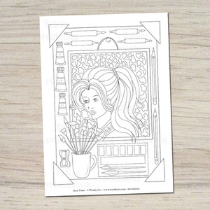 Arty Time Coloring Page