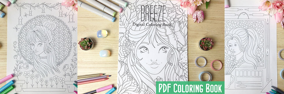 Breeze Coloring Book by Windy Iris