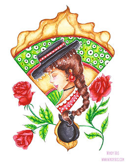 Flamenco Girl Coloring Page
