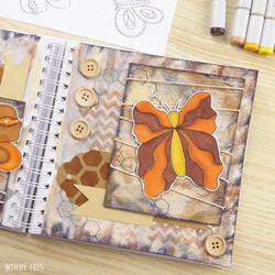 Butterflies Art Journal Page