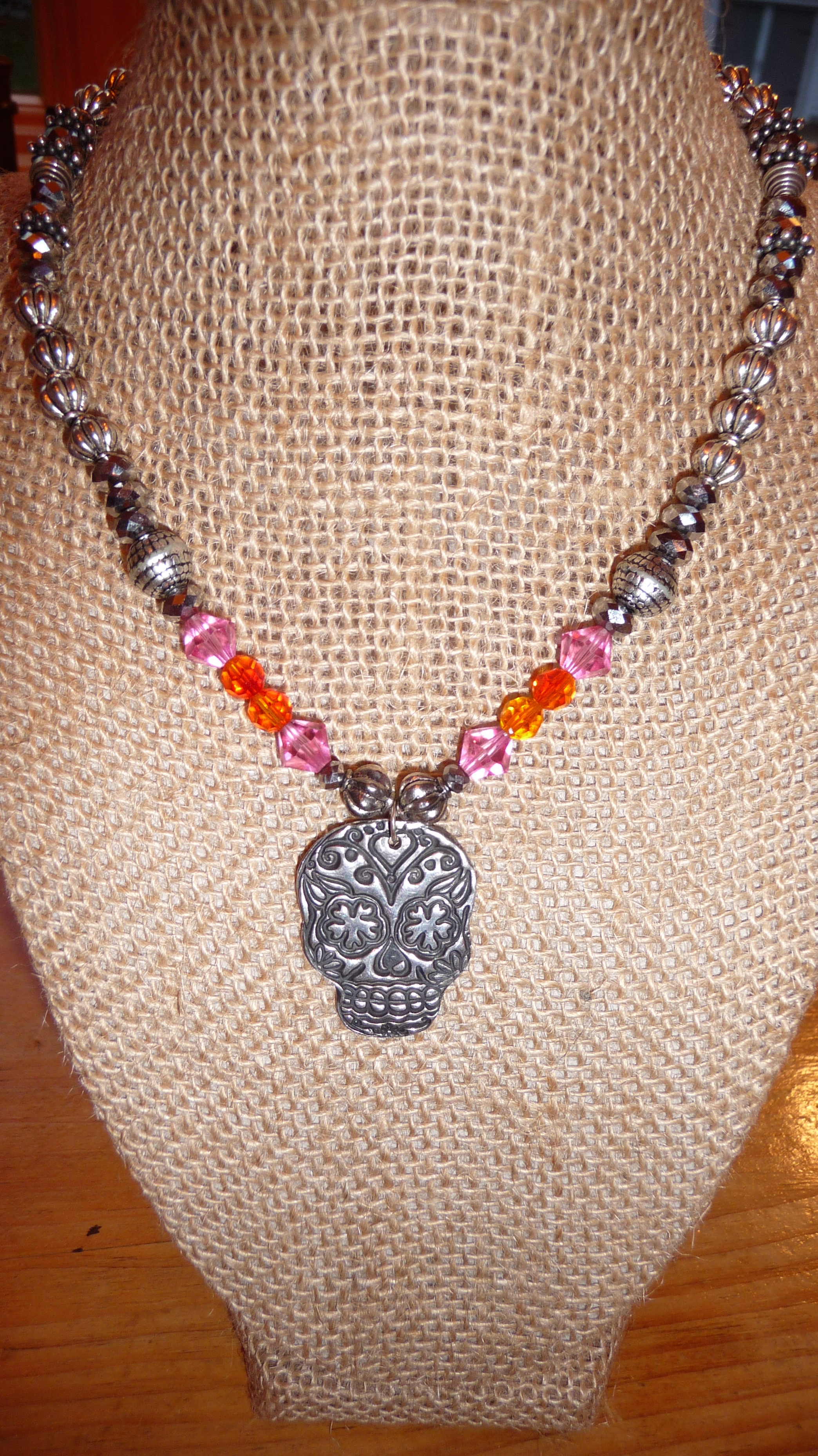 """""""Day of the Dead"""" custom necklace"""