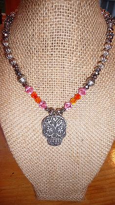 Custom Sugar Skull necklace