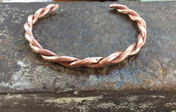 Copper braided cuff