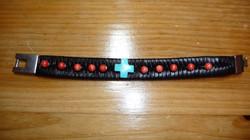 Southern cross leather bracelet
