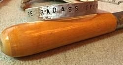 """""""Badass"""" sterling silver cuff"""