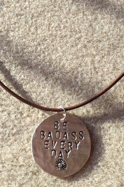 """""""Badass"""" collection - silver circle"""
